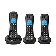 Buy BT 3940 Digital Cordless Phone with Answering Machine, Trio DECT Online at johnlewis.com