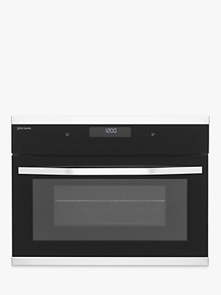 John Lewis & Partners JLBICO431 Built-in Combination Microwave Oven, Black/Stainless Steel