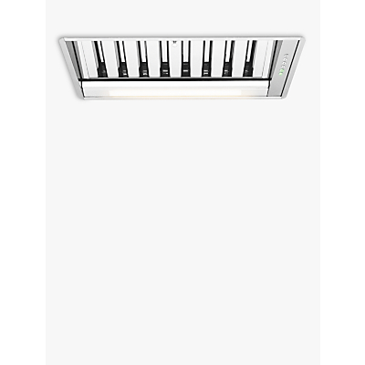Image of John Lewis & Partners JLCHI5201 Canopy Cooker Hood with Baffle Filter, Stainless Steel
