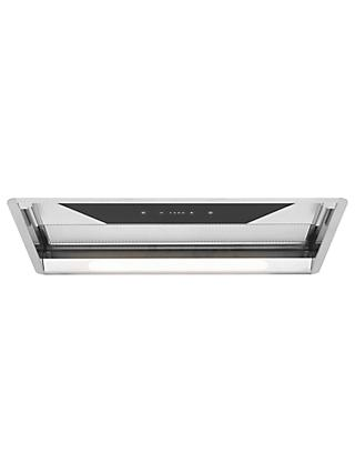 John Lewis & Partners JLCHT5201 Glass Wing Integrated Cooker HoodJohn Lewis & Partners JLCHT5201 Glass Wing Integrated Cooker Hood, Silver