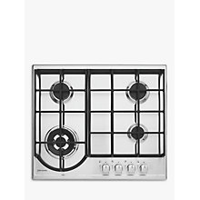 Buy John Lewis JLBIGH603 Gas Hob, Stainless Steel Online at johnlewis.com