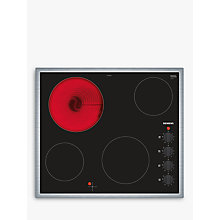Buy Siemens ET645CEA1E Ceramic Hob, Black Glass Online at johnlewis.com