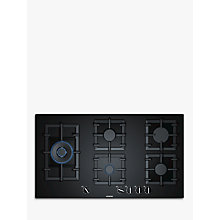 Buy Siemens EP9A6SB90 StepFlame Gas Hob, Black Online at johnlewis.com