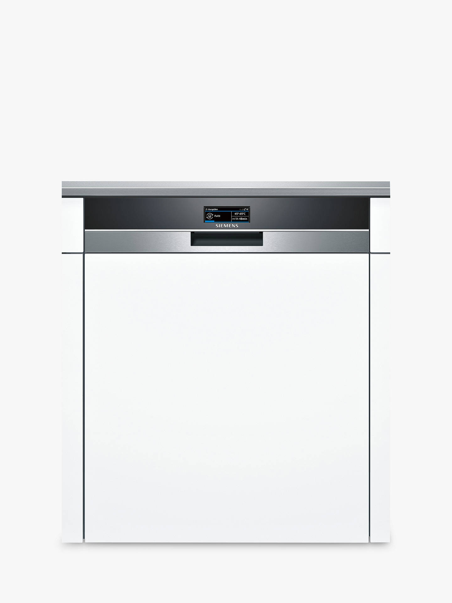 Siemens Sn578s36te Semi Integrated Dishwasher Stainless Steel Online At Johnlewis
