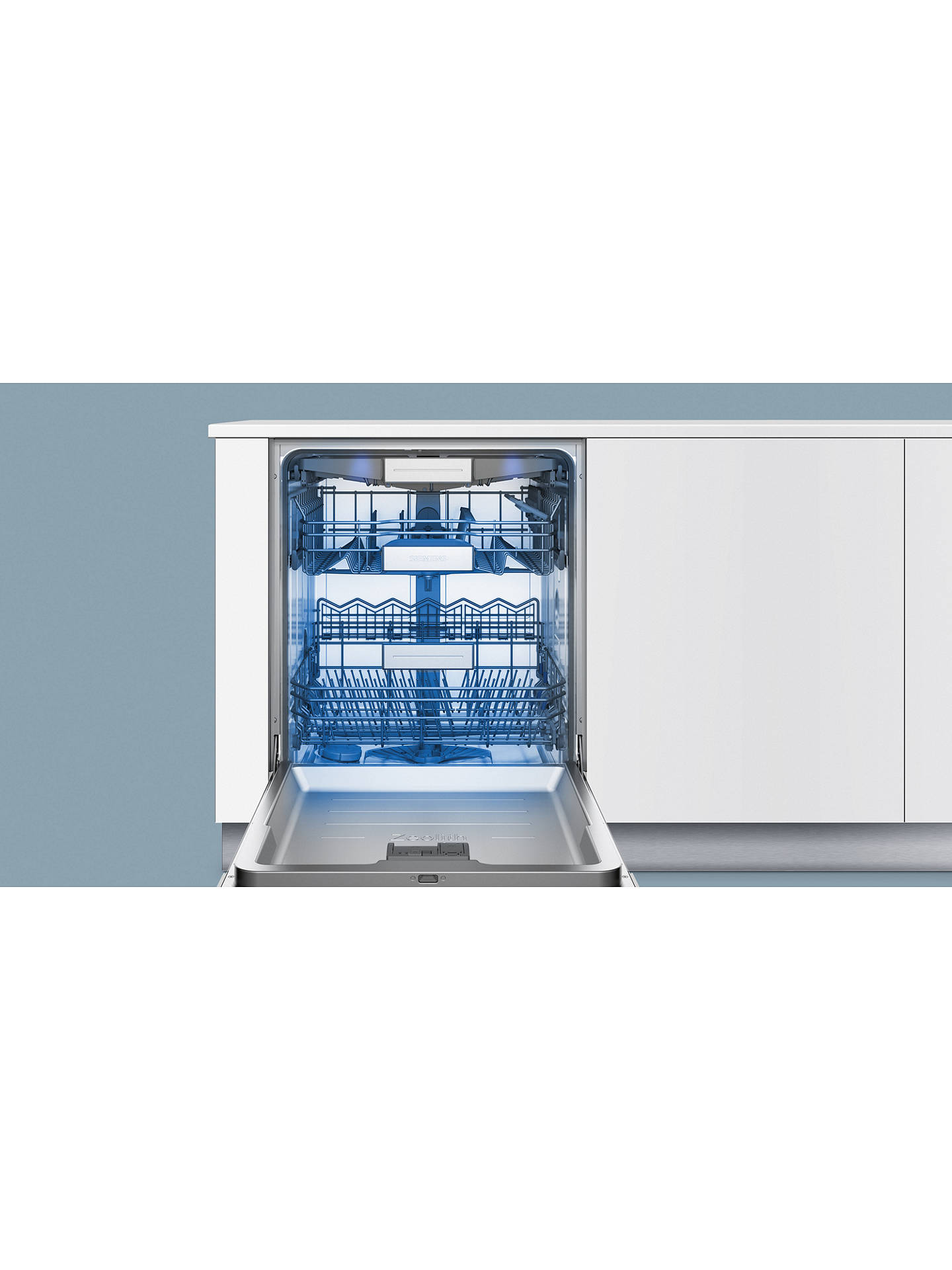 Buy Siemens SN578S36TE Semi-integrated Dishwasher, Stainless Steel Online at johnlewis.com