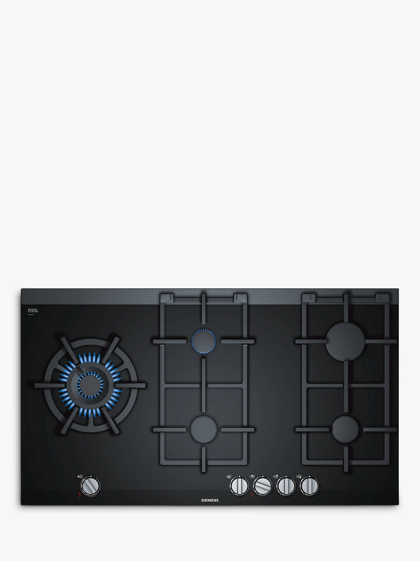 BuySiemens ER9A6SD70 Gas Hob, Black Online at johnlewis.com