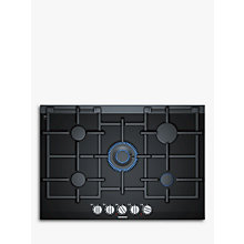 Buy Siemens ER7A6RD70 Integrated Gas Hob, Black Online at johnlewis.com
