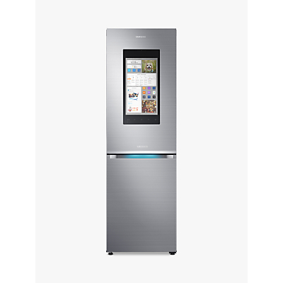 Samsung RB38M7998S4/EU Family Hub Smart Freestanding Fridge Freezer, A++ Energy Rating, 60cm Wide, Stainless Steel
