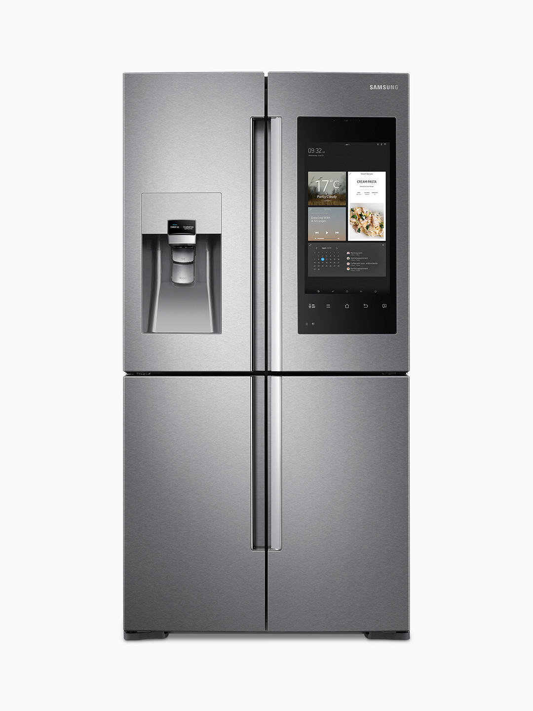 Buy Samsung RF56M9540SR/EU Family Hub™ Smart Freestanding 60/40 Fridge Freezer, A+ Energy Rating, 90cm Wide, Stainless Steel Online at johnlewis.com