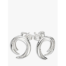 Buy Kit Heath Twist Cubic Zirconia Stud Earrings, Silver Online at johnlewis.com