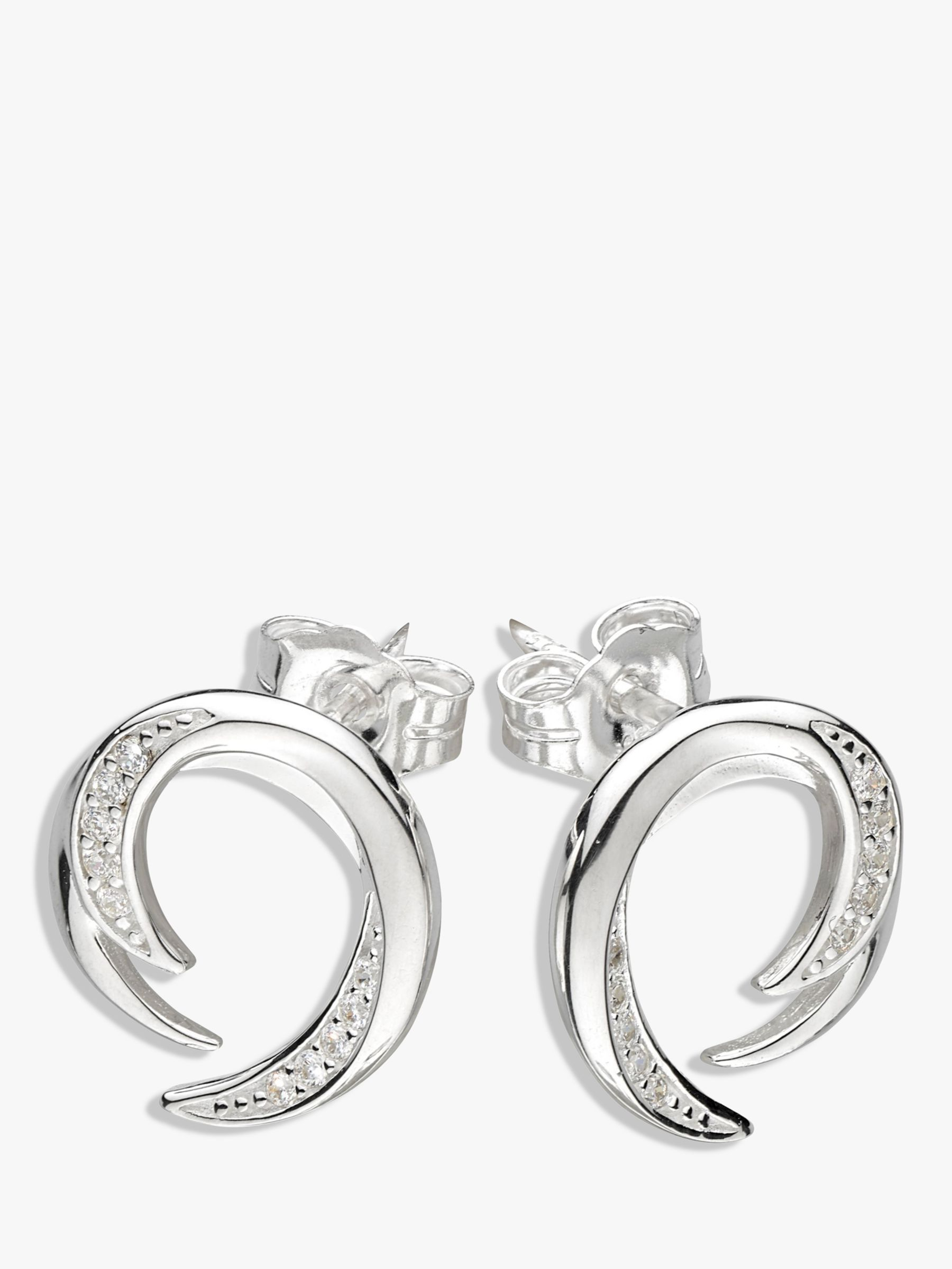 Kit Heath Kit Heath Twist Cubic Zirconia Stud Earrings, Silver