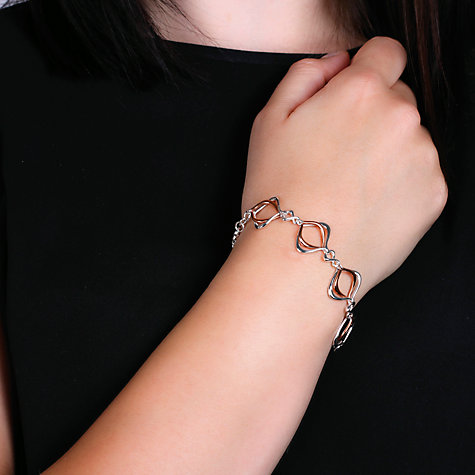 Buy Kit Heath 18ct Rose Gold Vermeil Infinity Alicia Bracelet, Rose Gold/Silver Online at johnlewis.com
