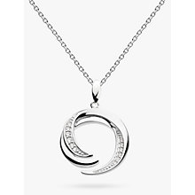 Buy Kit Heath Sterling Silver Twine Helix Twist Pendant Necklace, Silver Online at johnlewis.com