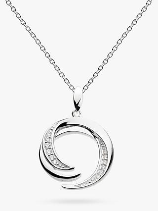 Kit Heath Sterling Silver Twine Helix Twist Pendant Necklace, Silver