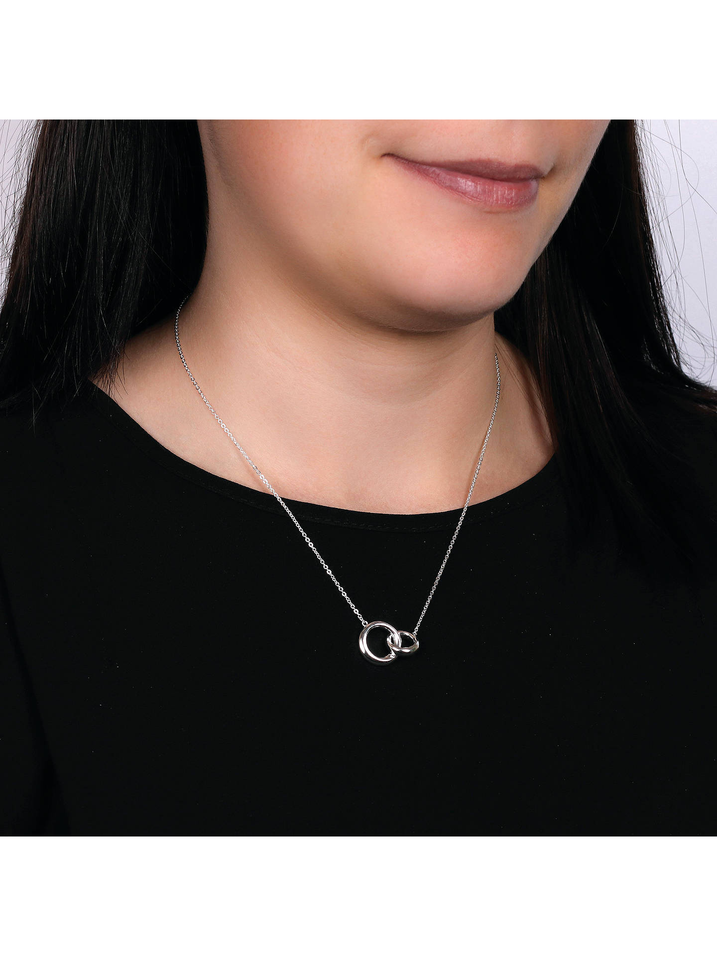 332ab228c ... Buy Kit Heath Bevel Curve Interlink Ring Pendant Necklace, Silver  Online at johnlewis.com