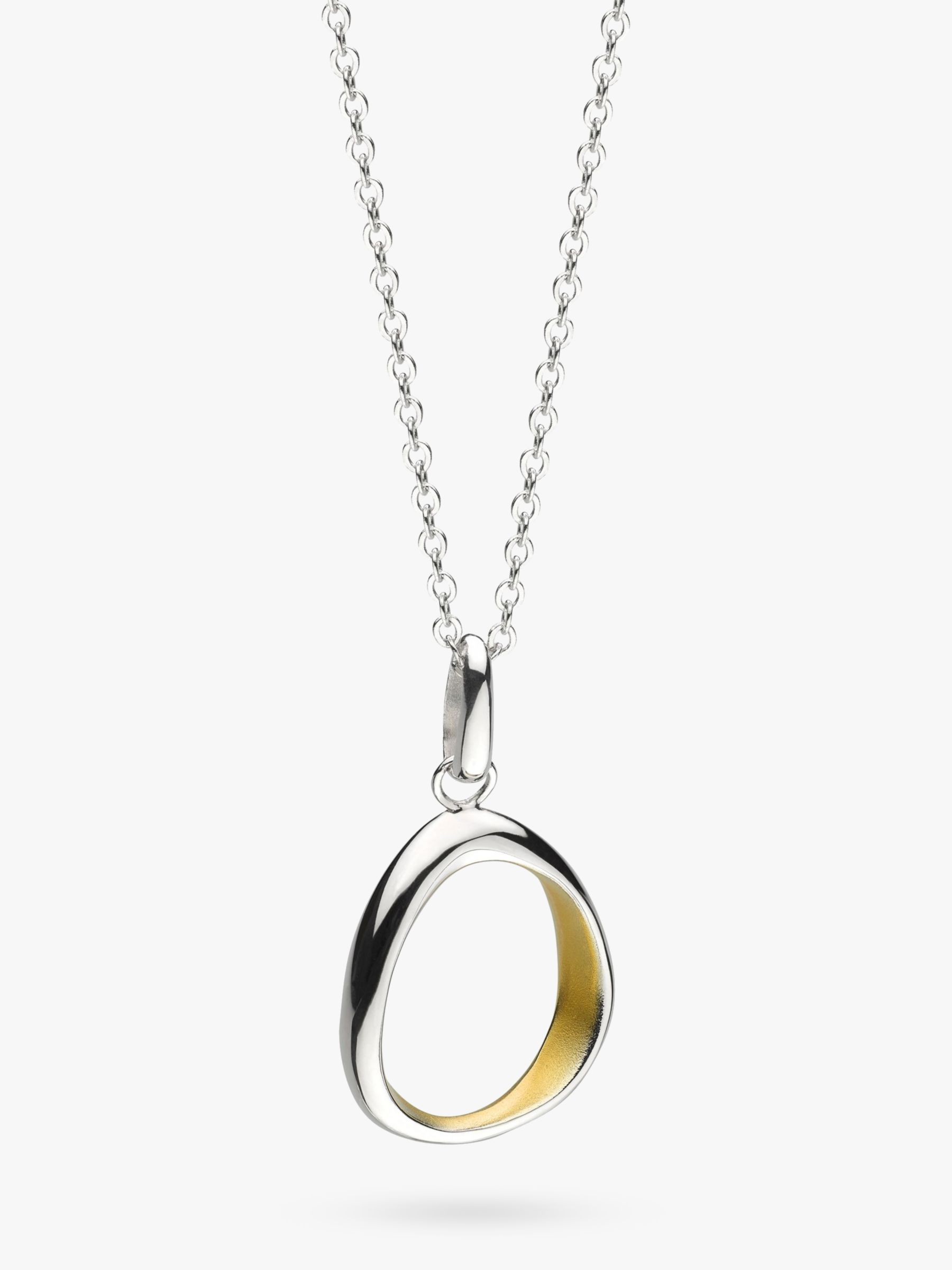 Kit Heath Kit Heath Coast Shore Medium Sandblast Pendant Necklace, Silver/Gold