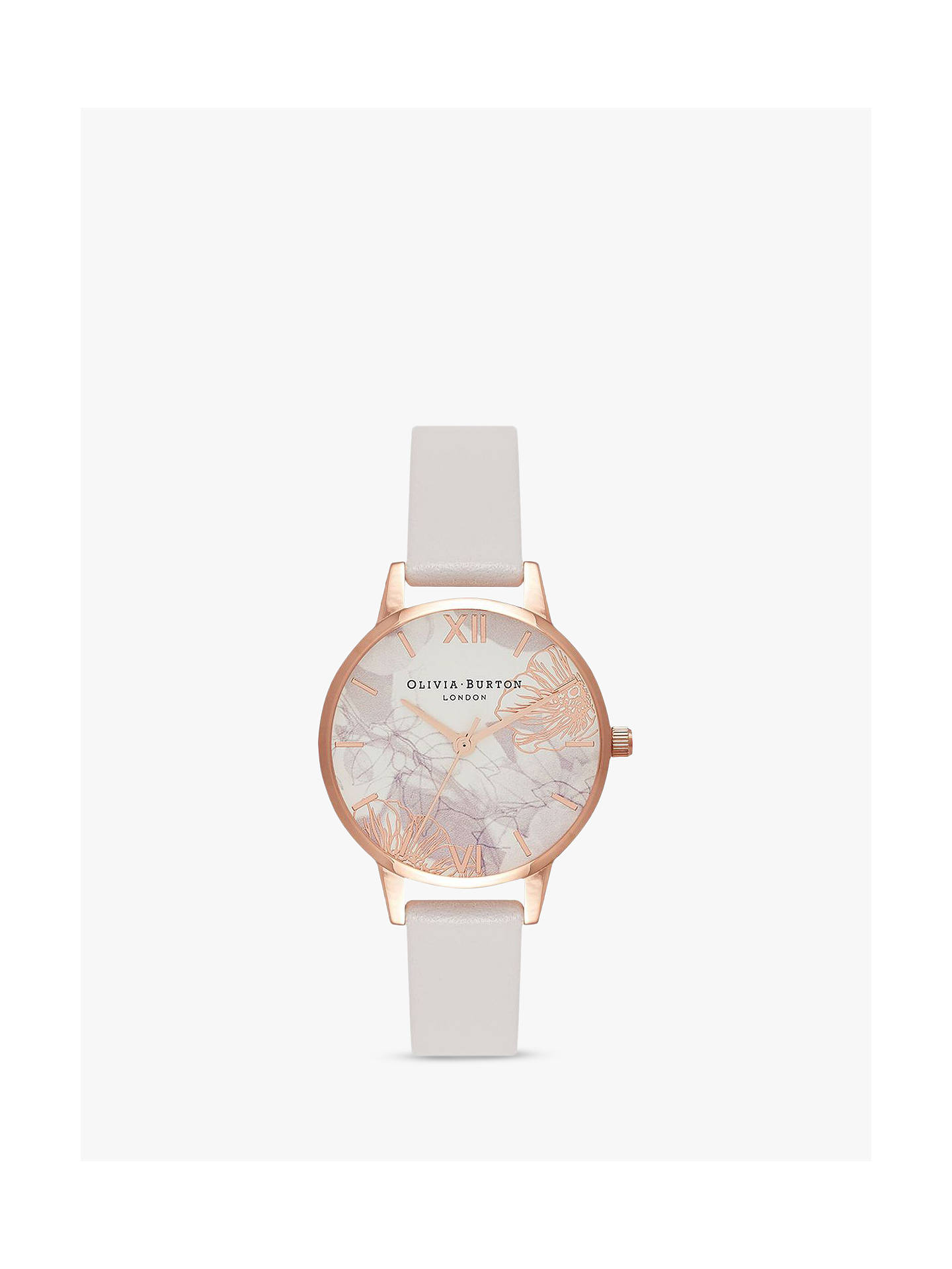 660accf65a20a Olivia Burton OB16VM12 Women s Abstract Florals Leather Strap Watch ...