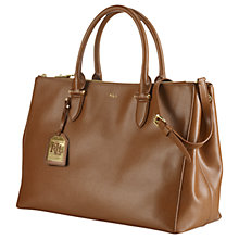 Buy Lauren Ralph Lauren Newbury Satchel, Lauren Tan Online at johnlewis.com