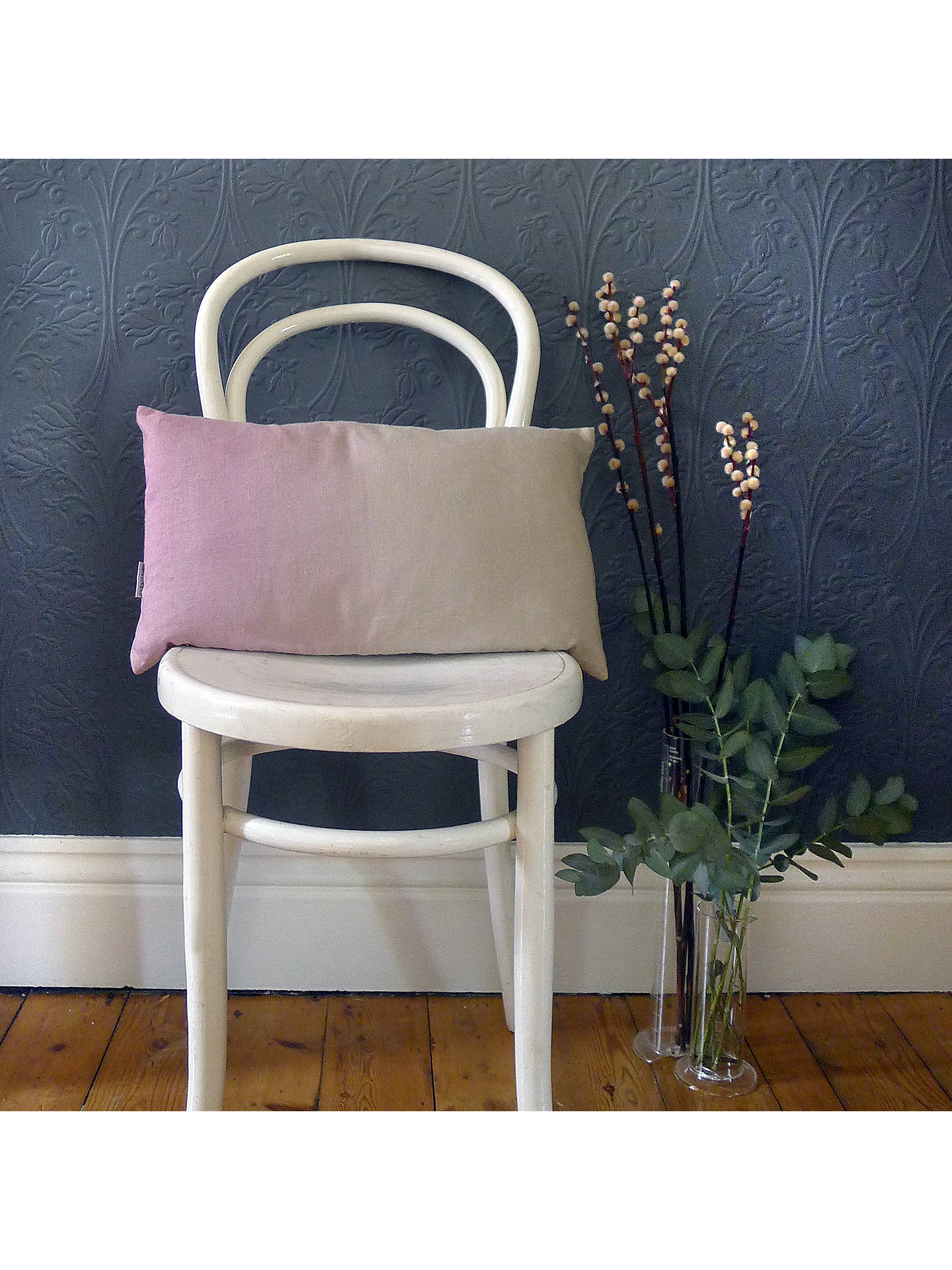 BuySami Couper Linen Ombre Rectangular Cushion, Pink Blush Online at johnlewis.com