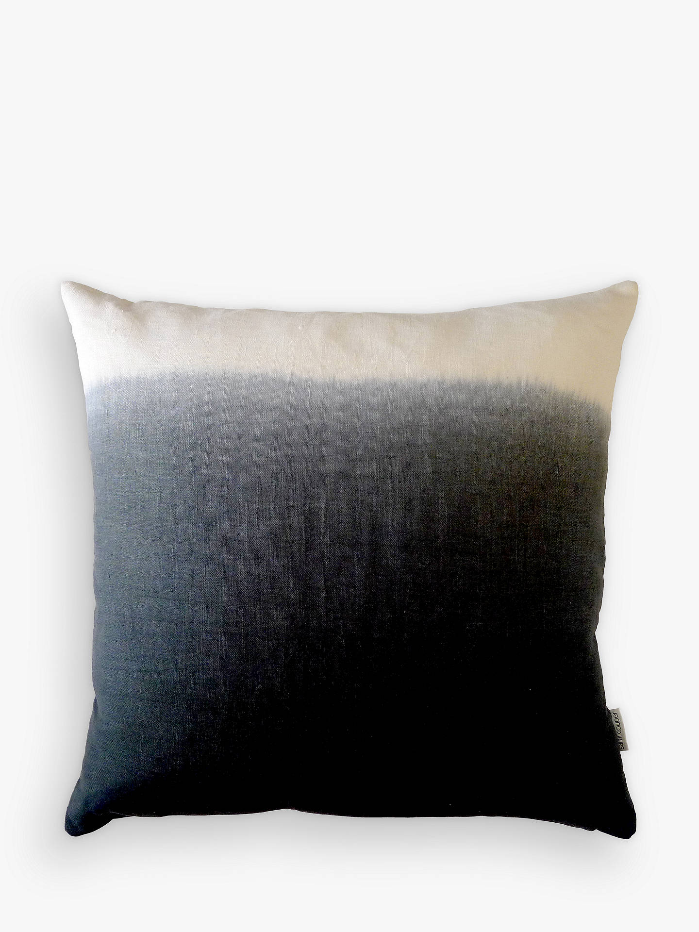 BuySami Couper Linen Ombre Large Cushion, Navy Online at johnlewis.com