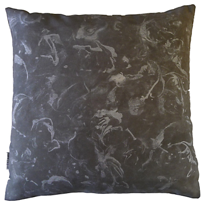 Sami Couper Marble Large Cushion, Silver/Charcoal