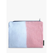 Buy Sami Couper Linen Ombre Purse, Coral/White Online at johnlewis.com