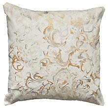 Buy Sami Couper Marble Small Cushion, White/Metallic Online at johnlewis.com