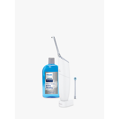 Philips Sonicare HX8472/11 AirFloss Pro Dental Flosser with Mouth Wash, White