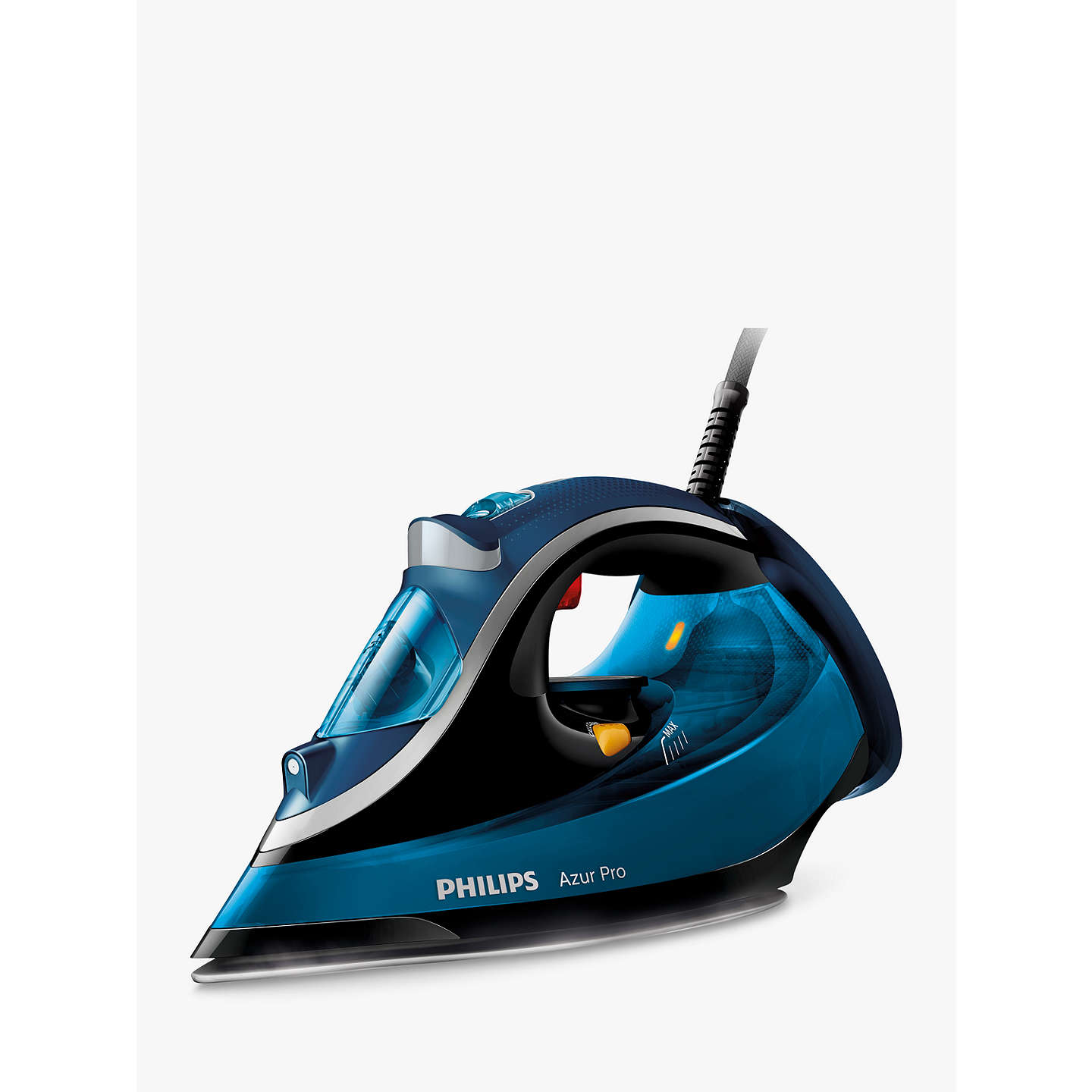 philips gc4881 20 azur pro steam iron blue at john lewis. Black Bedroom Furniture Sets. Home Design Ideas