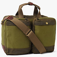 Buy Barbour Archive Waxed Cotton Business Bag, Olive Online at johnlewis.com