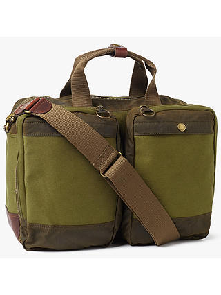 6fb868bb7 Barbour Archive Waxed Cotton Business Bag, Olive at John Lewis ...