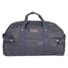 Buy Barbour Pestbury Wax Cotton Holdall, Navy Online at johnlewis.com