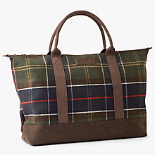 Buy Barbour Elgin Wool-Blend Holdall, Multi Online at johnlewis.com