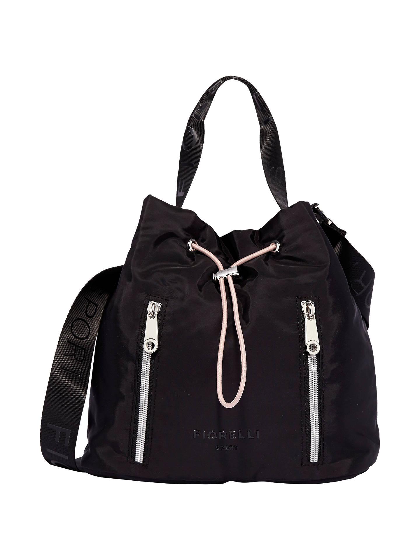 BuyFiorelli Sport Snapshot Drawstring Bucket Bag, Black Online at  johnlewis.com ... 6259ad70f3