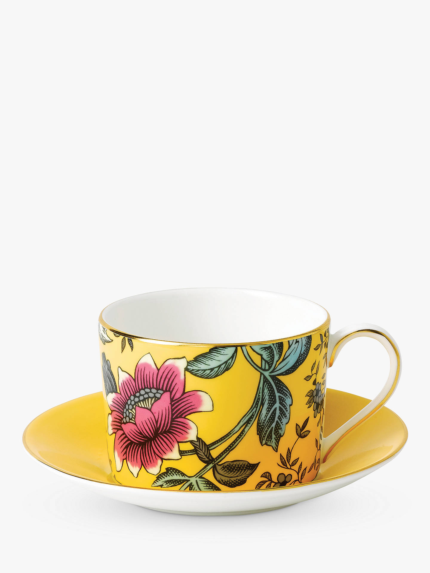 BuyWedgwood Wonderlust Tonquin Cup and Saucer Set, Yellow/Multi, 180ml Online at johnlewis.com