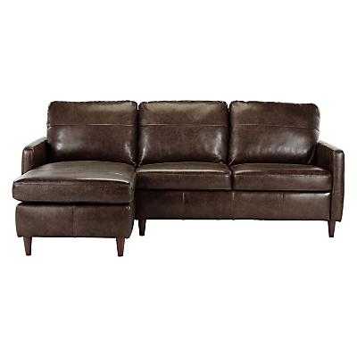 John Lewis Dalston Leather LHF Chaise End Sofa