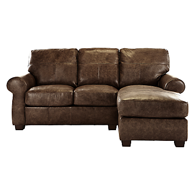John Lewis Hampstead RHF Leather Chaise End Sofa