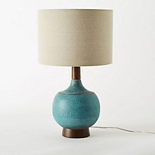 Buy west elm Modernist Table Lamp, Turquoise Online at johnlewis.com