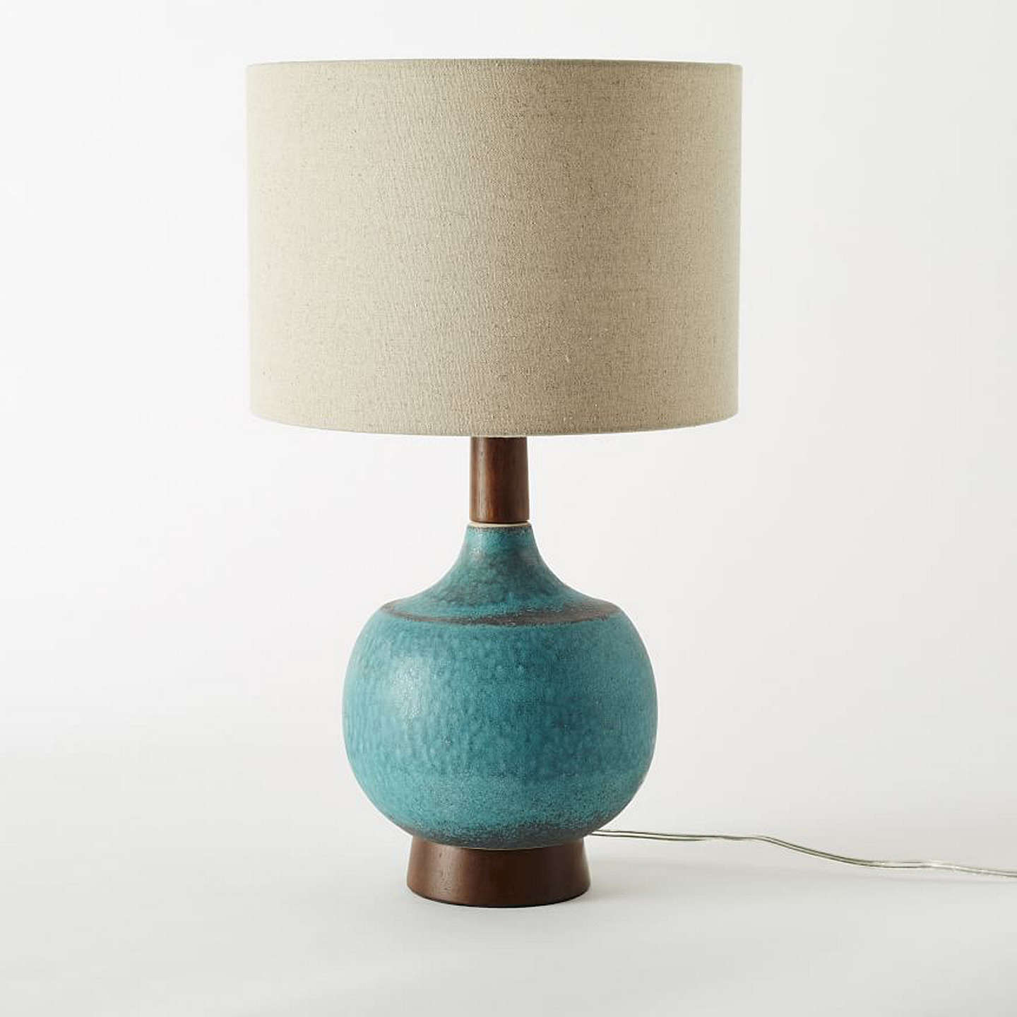 West elm modernist table lamp turquoise at john lewis buywest elm modernist table lamp turquoise online at johnlewis aloadofball Image collections