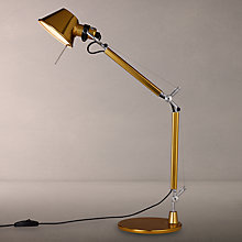 Buy Artemide Tolomeo Micro Desk Lamp, Gold Online at johnlewis.com