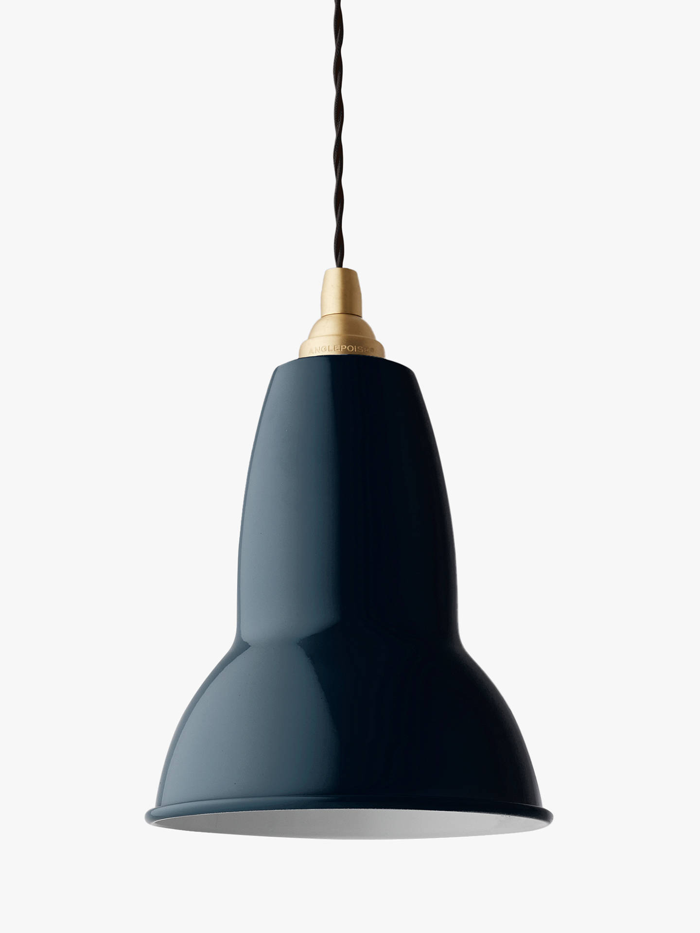 Buy Anglepoise 1227 Brass Ceiling Light, Ink Online at johnlewis.com