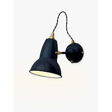 Buy Anglepoise Original 1227 Brass Wall Light, Ink Online at johnlewis.com