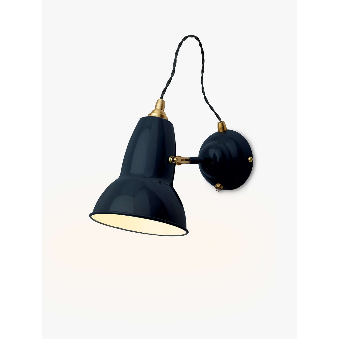 Anglepoise original 1227 brass wall light ink at john lewis buyanglepoise original 1227 brass wall light ink online at johnlewis aloadofball Image collections