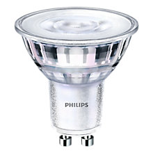 Buy Philips 4.4W GU10 LED Cool White Dimmable Light Bulb, Clear Online at johnlewis.com