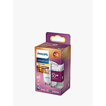 Buy Philips 5.5W LED Warm Glow GU10 Light Bulb, Dimmable Online at johnlewis.com