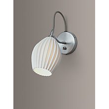 Buy Original BTC Fin Ceramic Wall Light, Satin Chrome Online at johnlewis.com
