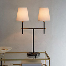 Buy west elm Arc 2 Arm Table Lamp, Bronze Online at johnlewis.com