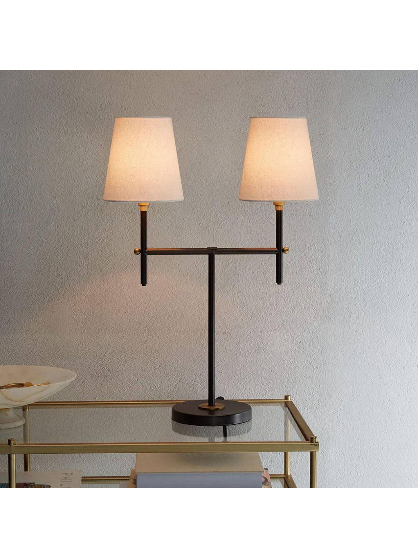 West Elm Arc 2 Arm Table Lamp Bronze At John Lewis Partners