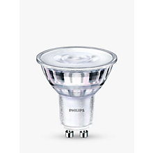 Buy Philips 4.5W LED  Warm Glow GU10 Dimmable Light Bulb Online at johnlewis.com