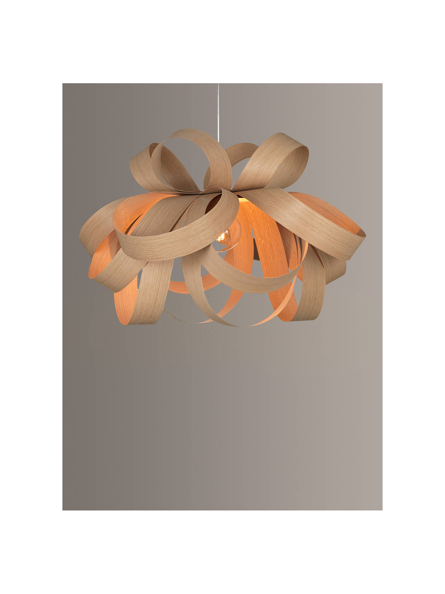 BuyTom Raffield Large Skipper Pendant Light, 80cm, Oak Online at johnlewis.com